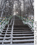 Зимняя лестница в небо. Стоковое фото, фотограф Андрей Дегтярев / Фотобанк Лори