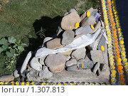 Купить «Непал. Катманду. Ступа Боднатх. Камни Мани.», фото № 1307813, снято 9 ноября 2009 г. (c) Михаил Ворожцов / Фотобанк Лори