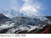 Непал. Ледник у горы Манаслу (8163 м). (2009 год). Стоковое фото, фотограф Михаил Ворожцов / Фотобанк Лори