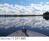 Вид на берега Печоры из лодки. Стоковое фото, фотограф Вера Попова / Фотобанк Лори