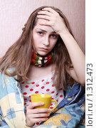 Купить «Девушка болеет», фото № 1312473, снято 20 декабря 2009 г. (c) Ирина Золина / Фотобанк Лори