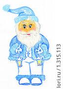 Купить «Дед Мороз. Рисунок пастелью», иллюстрация № 1315113 (c) Ivan Markeev / Фотобанк Лори