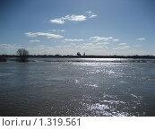 Окский разлив с Рязанским кремлём. Стоковое фото, фотограф Валентин Тучин / Фотобанк Лори