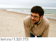 Купить «Смеющийся мужчина», фото № 1321773, снято 22 августа 2009 г. (c) Анна Лурье / Фотобанк Лори