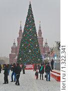Купить «Новогодняя елка на Красной площади», эксклюзивное фото № 1322341, снято 20 декабря 2009 г. (c) Алёшина Оксана / Фотобанк Лори