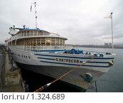 Купить «Красноярск.  Причал на Енисее», фото № 1324689, снято 5 октября 2009 г. (c) Andrey M / Фотобанк Лори