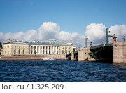 Вид на стрелку Васильевского острова, Санкт-Петербург (2009 год). Стоковое фото, фотограф Алексей Артамонов / Фотобанк Лори