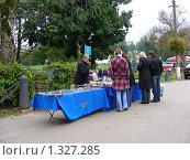 """Купить «Торговля сувенирами  в парке """"Кузьминки""""», эксклюзивное фото № 1327285, снято 13 сентября 2008 г. (c) lana1501 / Фотобанк Лори"""