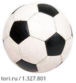 Купить «Футбольный мяч, изолированный на белом фоне», фото № 1327801, снято 9 октября 2009 г. (c) Илья Андриянов / Фотобанк Лори