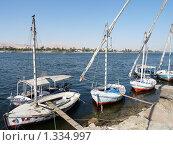 Лодки на Ниле (2009 год). Редакционное фото, фотограф Вячеслав Костылев / Фотобанк Лори