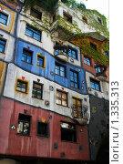 Купить «Фасад дома Хундертвассера. Австрия. Вена.», фото № 1335313, снято 25 мая 2009 г. (c) Алексей Зарубин / Фотобанк Лори