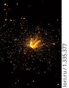Купить «Фейерверк на чёрном фоне», фото № 1335377, снято 1 января 2010 г. (c) Argument / Фотобанк Лори