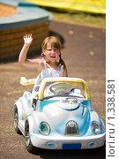 Купить «Маленький водитель», фото № 1338581, снято 19 июля 2009 г. (c) Ольга Сапегина / Фотобанк Лори