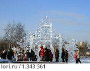 Купить «Ледяной дворец. Резиденция Деда Мороза», эксклюзивное фото № 1343361, снято 3 января 2010 г. (c) Щеголева Ольга / Фотобанк Лори
