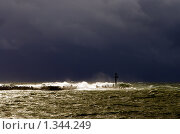 Купить «Шторм на Балтийском море», фото № 1344249, снято 4 октября 2009 г. (c) Анна Лурье / Фотобанк Лори