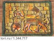 Купить «Египетская картина на древнем папирусе», фото № 1344717, снято 1 января 2010 г. (c) Константин Бабенко / Фотобанк Лори