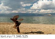 Купить «Байкал. Песчаный пляж на острове Ольхон», фото № 1346525, снято 10 сентября 2007 г. (c) Andrey M / Фотобанк Лори