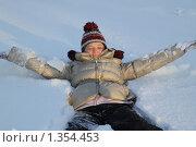 Женщина купается в снегу. Стоковое фото, фотограф Софья Петрова / Фотобанк Лори