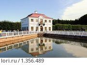Купить «Дворец Марли и Секторальный пруд», фото № 1356489, снято 22 августа 2009 г. (c) Сергей Разживин / Фотобанк Лори