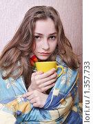Купить «Девушка болеет», фото № 1357733, снято 20 декабря 2009 г. (c) Ирина Золина / Фотобанк Лори