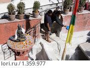 Купить «Непал. Катманду. Ступа Боднатх.», фото № 1359977, снято 9 ноября 2009 г. (c) Михаил Ворожцов / Фотобанк Лори