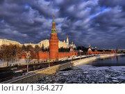 Кремлевская набережная зимой, Москва (2010 год). Стоковое фото, фотограф Fro / Фотобанк Лори