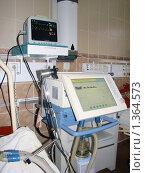 Аппарат искусственной вентиляции лёгких и кардио монитор. Стоковое фото, фотограф Вячеслав Киктев / Фотобанк Лори