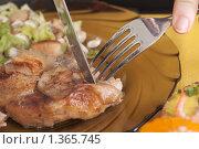 Купить «Едим ножом и вилкой», фото № 1365745, снято 31 декабря 2009 г. (c) Королевский Василий Федорович / Фотобанк Лори