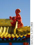 Купить «Деталь буддистского храма - голова дракона», фото № 1371993, снято 17 мая 2009 г. (c) Иван Черненко / Фотобанк Лори