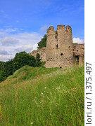 Купить «Башня Копорской крепости», фото № 1375497, снято 13 июля 2008 г. (c) Роман Рожков / Фотобанк Лори
