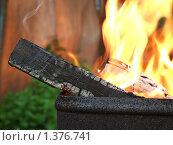 Дрова горящие в мангале. Стоковое фото, фотограф Андрей Борисов / Фотобанк Лори