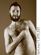 Парень с щетиной и волосатой грудью. Стоковое фото, фотограф Куршубадзе Нелли / Фотобанк Лори