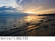 Купить «Закат на острове Кий. Белое море», фото № 1382133, снято 28 июля 2009 г. (c) Алексей Попов / Фотобанк Лори