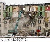 Снос пятиэтажки. Редакционное фото, фотограф Dmitry Rumyntsev / Фотобанк Лори