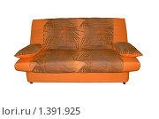 Купить «Оранжевый диван с подушками», фото № 1391925, снято 21 апреля 2007 г. (c) Александр Гончаров / Фотобанк Лори