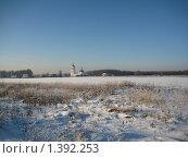 Купить «Церковь в поле», фото № 1392253, снято 19 января 2010 г. (c) Плотников Михаил / Фотобанк Лори