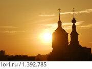 Церковь, закат. Стоковое фото, фотограф Лотков Лель / Фотобанк Лори