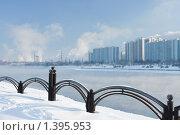 Купить «Вид из Марьина на Братеево зимой», фото № 1395953, снято 10 января 2010 г. (c) Ольга Полякова / Фотобанк Лори
