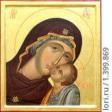 Купить «Икона Богородицы с младенцем», фото № 1399869, снято 11 января 2010 г. (c) Дмитрий Калиновский / Фотобанк Лори