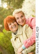 Купить «Портрет матери с дочерью», фото № 1402429, снято 2 мая 2008 г. (c) Andrejs Pidjass / Фотобанк Лори