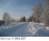 Купить «Зимняя дорога», фото № 1404257, снято 4 января 2010 г. (c) Юлия Козинец / Фотобанк Лори