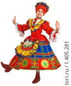 Купить «Танец русской матрёшки», фото № 1405281, снято 14 января 2010 г. (c) Федор Королевский / Фотобанк Лори