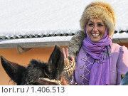 Купить «Анна Димова - участница большой псовой охоты», фото № 1406513, снято 16 января 2010 г. (c) Яременко Екатерина / Фотобанк Лори