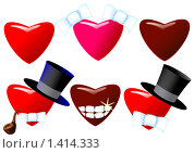 Купить «Набор сердечек», иллюстрация № 1414333 (c) Юрий Жеребцов / Фотобанк Лори