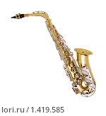 Купить «Музыкальный инструмент саксофон», фото № 1419585, снято 17 ноября 2018 г. (c) Firststar / Фотобанк Лори