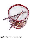 Купить «Барабан с палочками», фото № 1419617, снято 18 октября 2018 г. (c) Firststar / Фотобанк Лори
