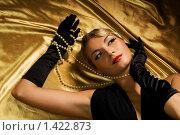 Купить «Женский портрет в стиле ретро», фото № 1422873, снято 27 декабря 2008 г. (c) Andrejs Pidjass / Фотобанк Лори