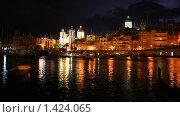 Купить «Порт Валлетты ночью», фото № 1424065, снято 17 ноября 2007 г. (c) Николай Богоявленский / Фотобанк Лори