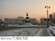 Купить «Исаакиевская площадь», фото № 1424725, снято 23 января 2010 г. (c) Александр Секретарев / Фотобанк Лори