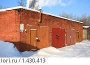 Купить «Гаражи», фото № 1430413, снято 30 января 2010 г. (c) АЛЕКСАНДР МИХЕИЧЕВ / Фотобанк Лори